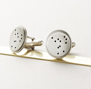 Silver Disc Constellation Cufflinks - view all father's day gifts