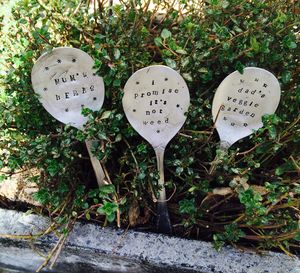Personalised Vintage Spoon Plant Markers - whatsnew