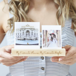 Personalised Favourite Moments Photo Block - picture frames