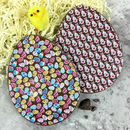 Chocolate Easter Eggs With Rabbit Design