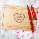 Personalised Housewarming Chopping Board For Couple