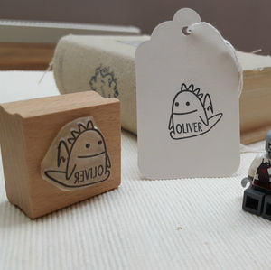 'Personalised Rubber Stamp For Boys'