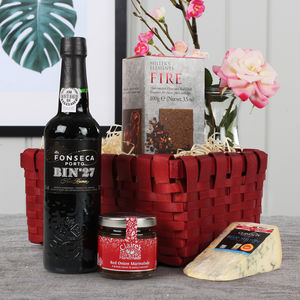The Port And Stilton Gift Hamper - drinks hampers