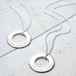 Personalised Silver Circle Of Life Necklace