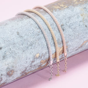 Diamond Cut Chain Bracelets In Gold, Rose Gold, Silver