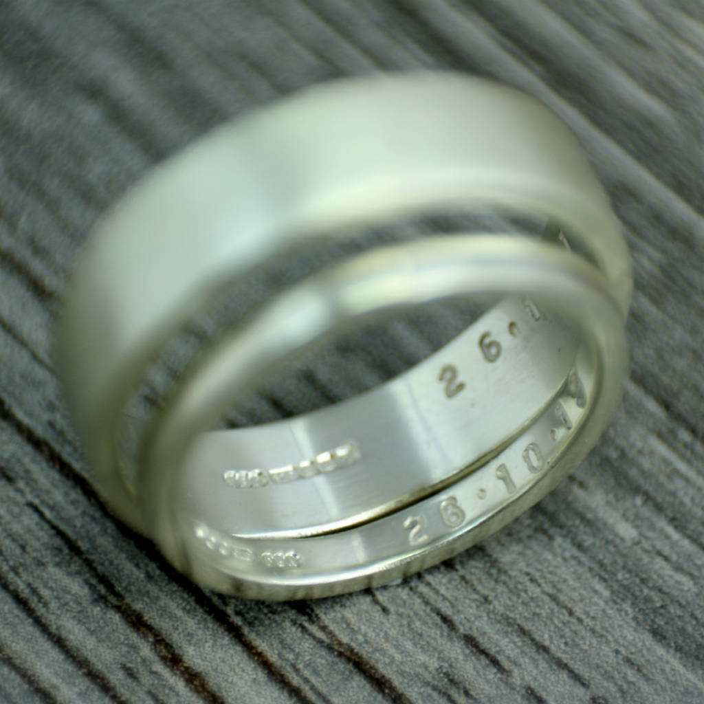 Fairtrade Gold Personalised Wedding Ring, 3mm Wide