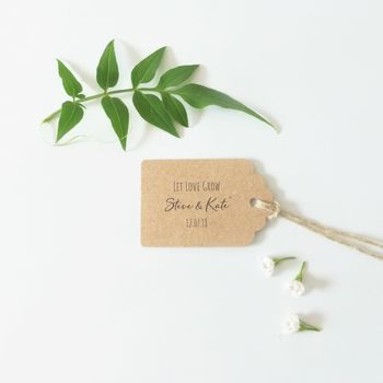 Kraft Wedding Favour Tags Let Love Grow
