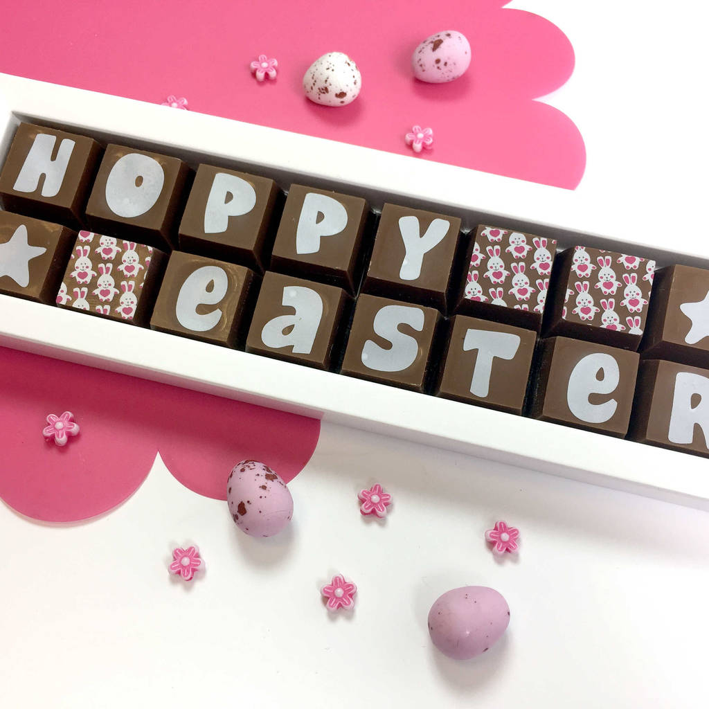 Hoppy Easter Chocolate Easter Bunny Gift Box
