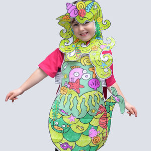 Colour In Fancy Dress Set Mermaid
