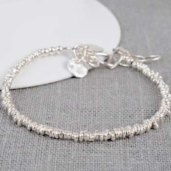 Sterling Silver Personalised Small Nugget Bracelet