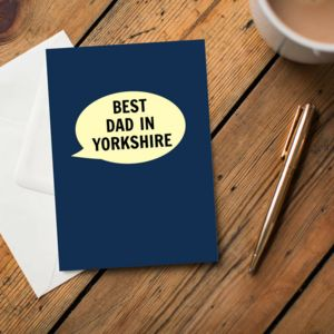 'Best Dad In Yorkshire' Card