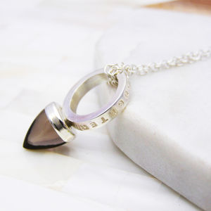 Personalised Silver Bullet Necklace - necklaces & pendants