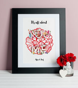 It's All About You And Me Print