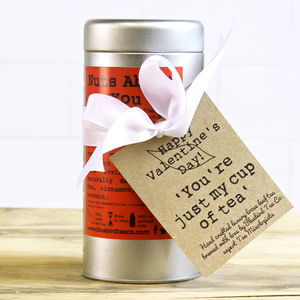 'I'm Nuts About You' Tea Tin Gift - tea & infusions