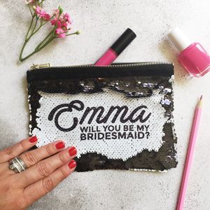 Sequin Reveal Bridesmaid Pouch