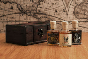 Three Pirate's Grog Rum Miniatures - wines, beers & spirits