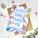Personalised 'Jingle Tingle' Funny Christmas Card