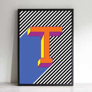 Personalised Alphabet Letter Typography Print - gifts for babies & children sale