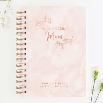 Floral Pink Notebook Mother's Day Gift