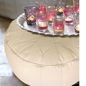 Moroccan Cool Star Stitch S Foot Stool - living room