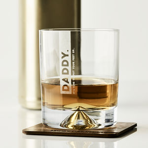 Personalised Whiskey Glass And Coaster - dining room