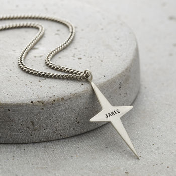 Personalised Men's North Star Necklace