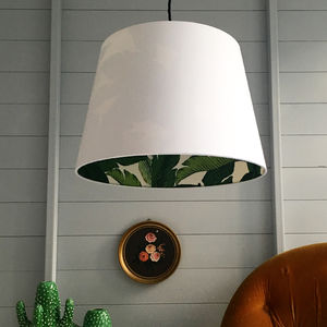 Tropical Banana Leaf Silhouette French Drum Lampshade - lampshades