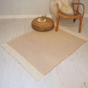 Natural Cotton Rug 170x120cm