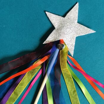 Rainbow Magic Wand // Glitter Star Wand