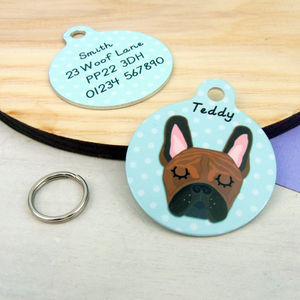 French Bulldog Pet Tag - pet tags & charms