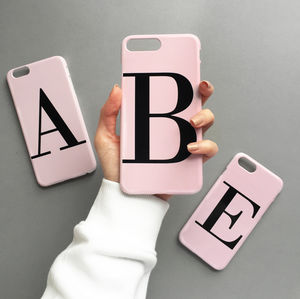 Dusty Pink Personalised Alphabet Phone Case
