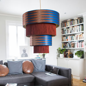 'Volta' African Pattern Chandelier Lampshade - living room