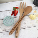 Personalised Queen Of The Kitchen Utensil Set