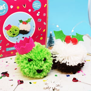Christmas Dinner Pom Pom Decoration Craft Kit