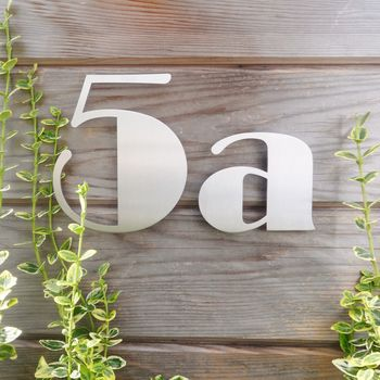 Stainless Steel Art Deco House Number