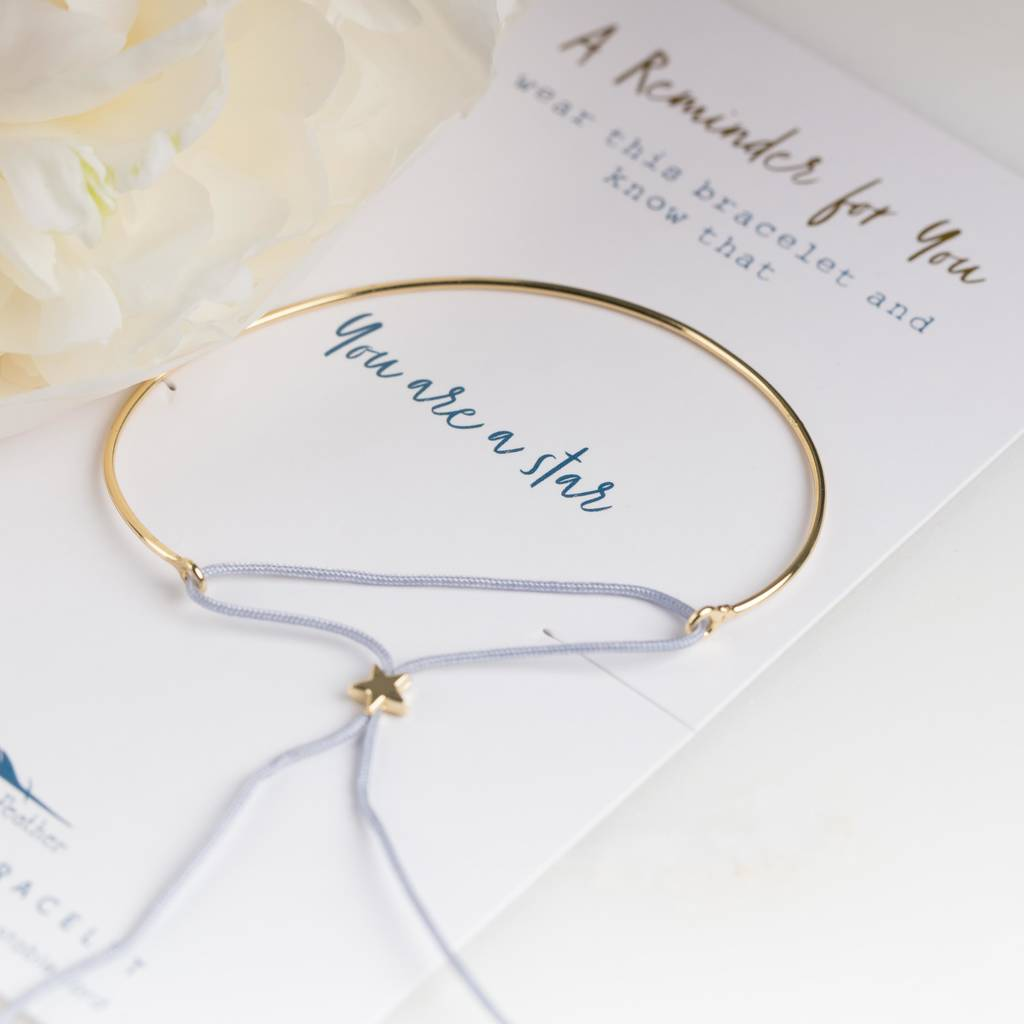 com you bracelet notonthehighstreet by original reminder product gold nest sparkle