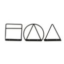 Geometric Shape Wall Mounted Magazine Racks
