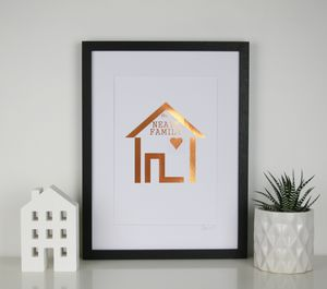 Home Is Where The Heart Is Foil Print - personalised