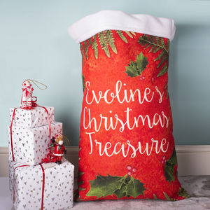 Personalised Festive Christmas Present Santa Sack Gift - view all decorations