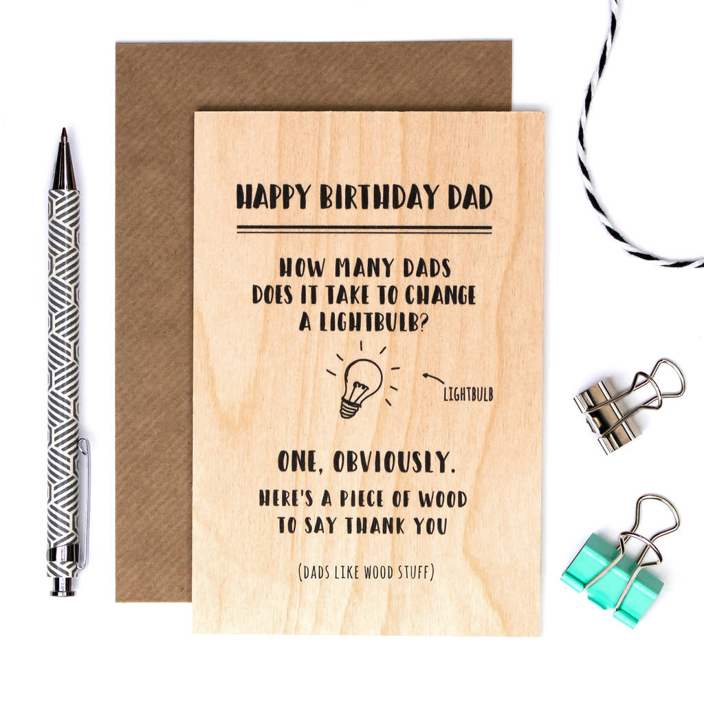 Funny Birthday Card For Dad