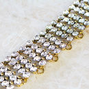 Royal Rhinestone Statement Choker Necklace