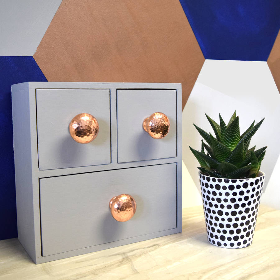 copper and silver hammered cupboard door knobs by pushka home ...