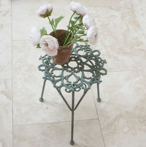 Delicate Verdigris Plant Stand - living room