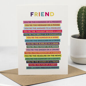 Friend Verse Card