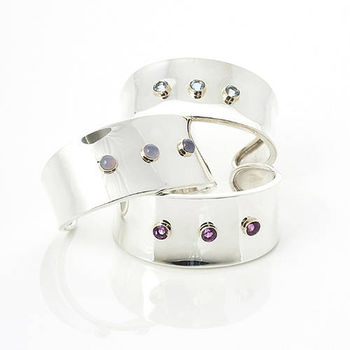 Gemstone Gold & Silver Cuff