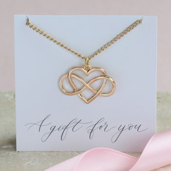Gold Infinity Heart Pendant