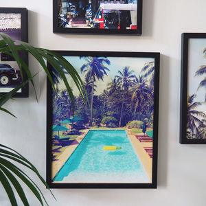 Vintage Style Pool Fine Art Giclee Print - maps & locations