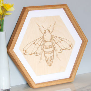Hexagonal Oak Frame
