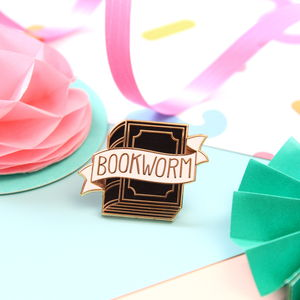 Bookworm Enamel Pin Badge - children's jewellery