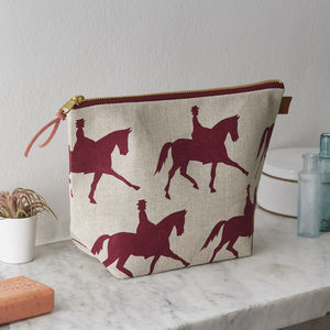 Dressage Horse Linen Wash Bag - wash & toiletry bags